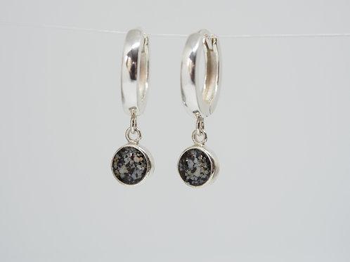 Silver earrings HOOP