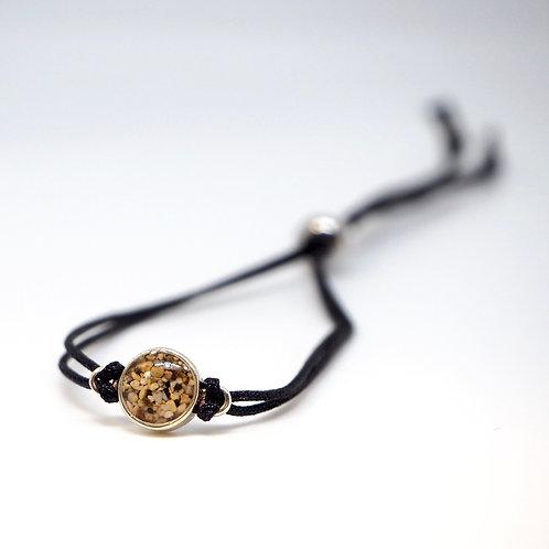 Hawaii - Oahu - Hanuama Bay / Silver bracelet with string