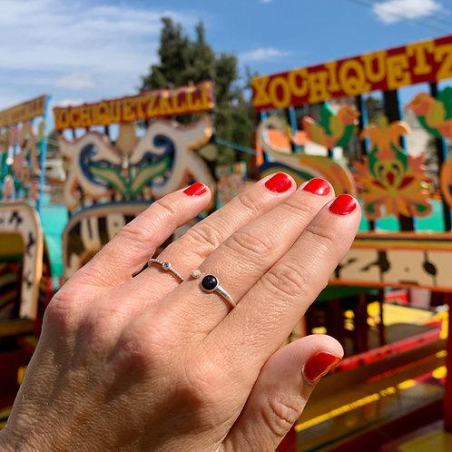 Stříbrný prsten DOUBLE DROP