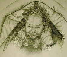 Baby in Tent - Pencil