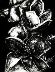 In Bloom - Silver - Mixed MediaJPG