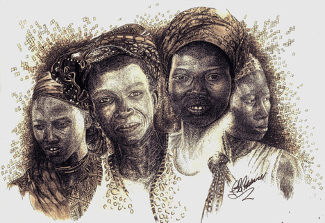 Africas Untapped Natural Resources - Sepia ink and pen.jpg
