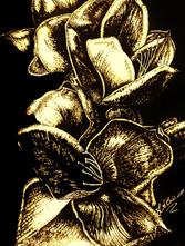 In Bloom - Gold -Mixed MediaJPG