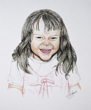 Funny Face - Colored Ink and Pen