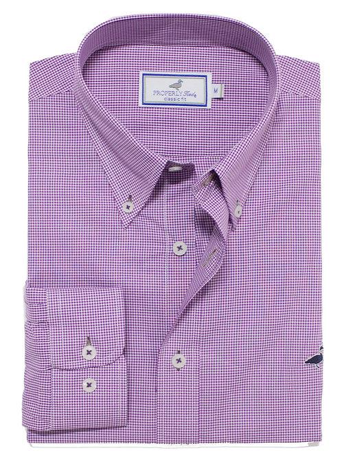 Properly Tied Gameday Sportshirt - Purple