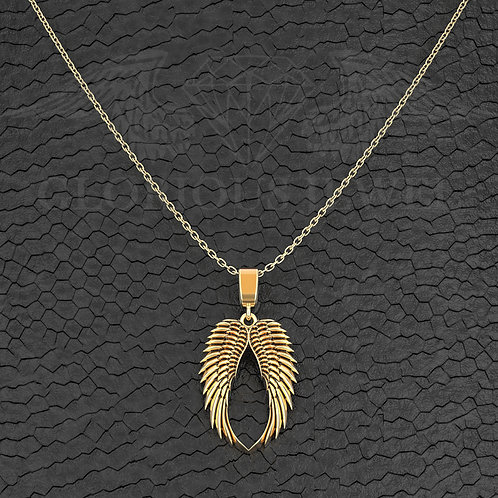 2cm double Wings pendant available in Silver, Gold 14K and Gold 18K, Handmade je