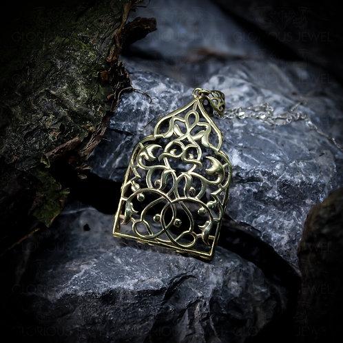 Persian Pendant, Victorian style, Arc pendant, Wire pendant, Persian style