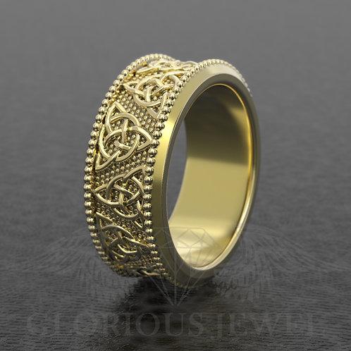 Celtic wedding band, Celtic jewelry, Wedding band, Men ring, Women ring, Wedding