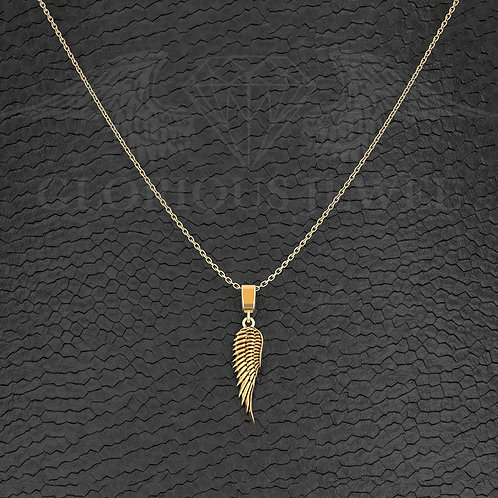 2cm Wing pendant available in Silver, Gold 14K and Gold 18K, Handmade jewelry