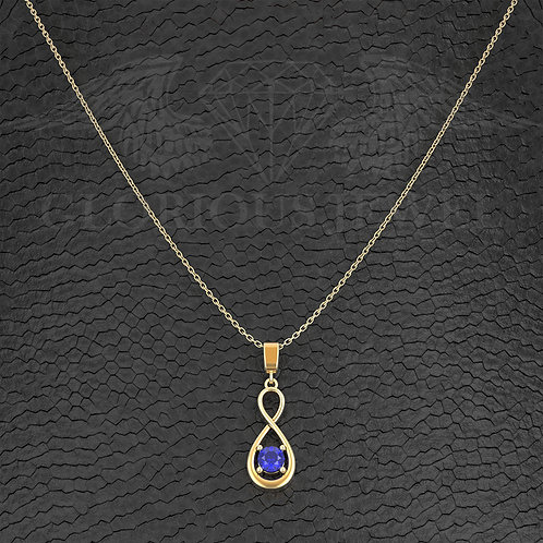 Infinity Hard pendant with CZ stones, Love pendant for couples, Infinity love