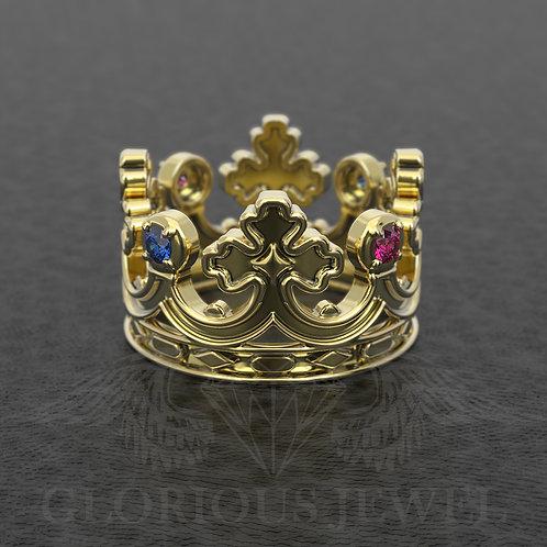 Crown ring, Tiara ring, Queen crown ring, King crown ring, Engagement ring
