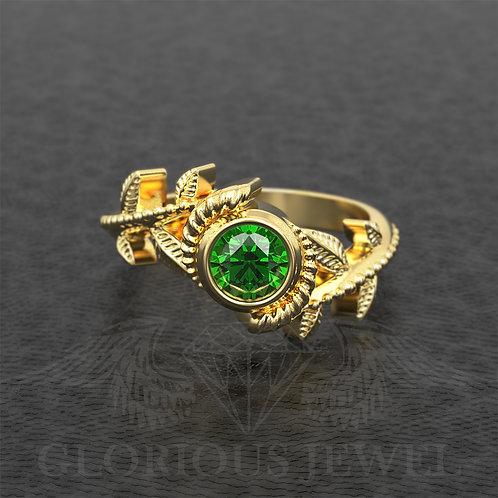 Flower Legend of Zelda inspired ring, hyrule warriors zelda, triforce wedding