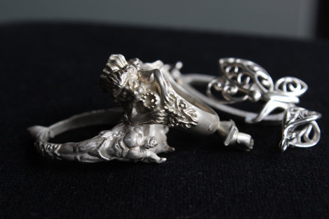 Rough Silver Casting