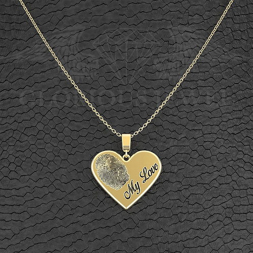 2 Cm Heart pendant with custome Laser Engraving, My Love pendant, Valentine