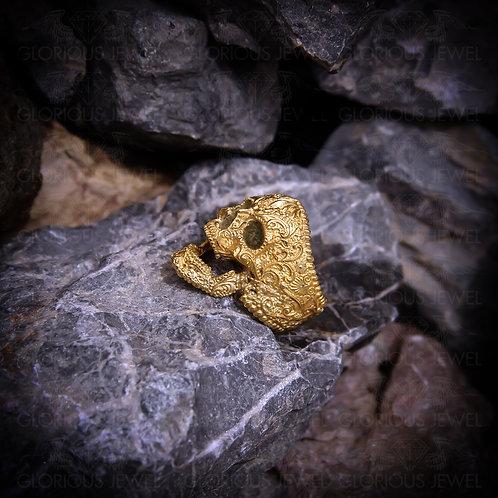 Sugar Skull Ring   Silver Skull Ring   Bronze Skull Ring   Mens Skull Ring