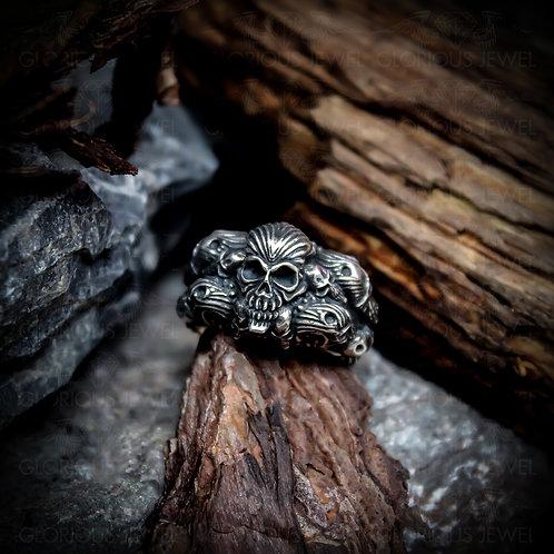 Glorious Sugar Skull ring, Skull ring, Biker ring, Biker girl, Biker, Skull