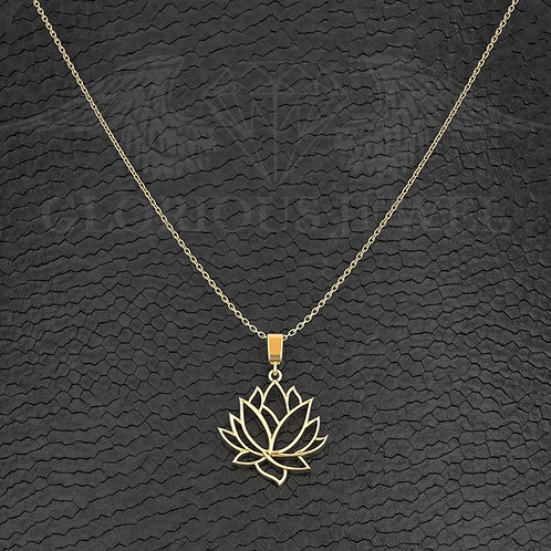 Lotus pendant, LLotus necklace, lotus necklace silver, Lotus jewelry, Silver 925