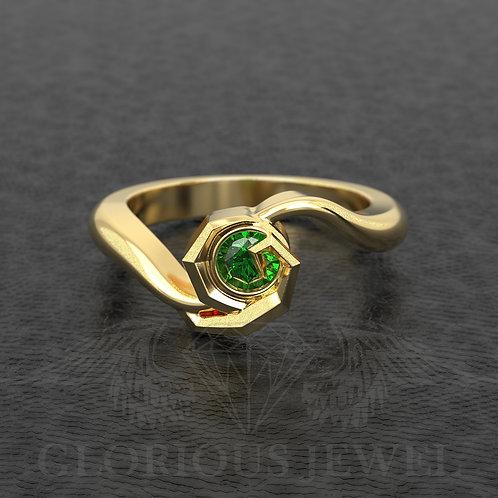 Zelda inspired Ring, Geeky Silver Engagement Ring, Legend of Zelda