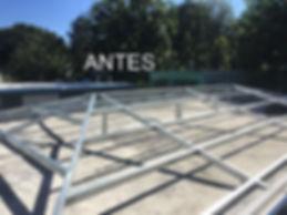 Construcción de techos galvanizados