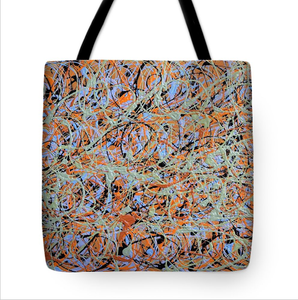 Bag in the designed Color Coding DNA Kate Spade Fabric by Greg Herzog