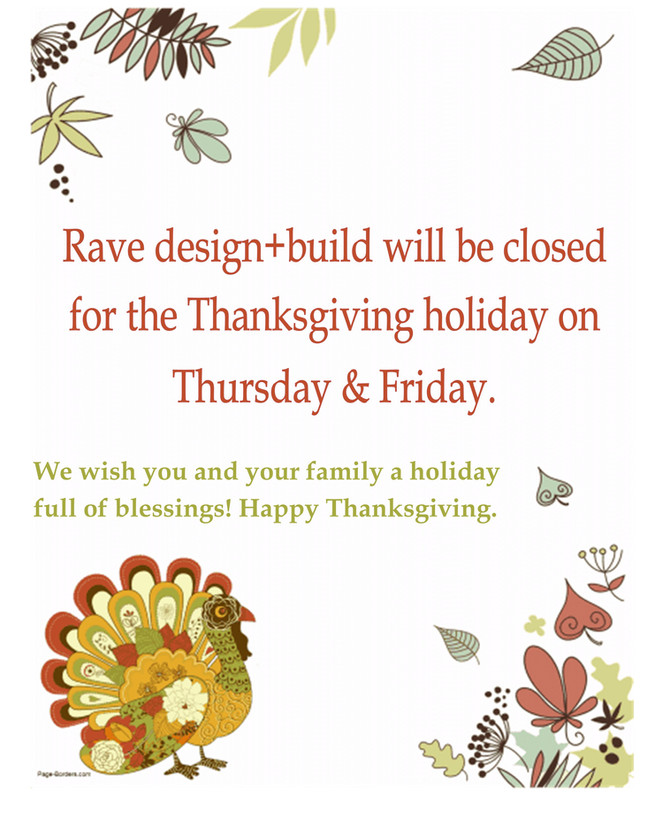 Upcoming Thanksgiving Hours