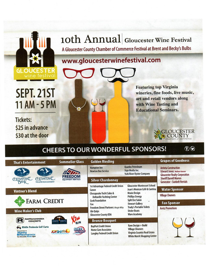 10th Annual Gloucester Chamber of Commerce Wine Festival