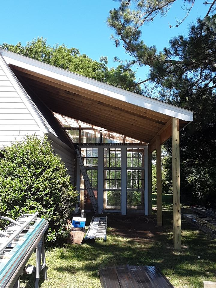 Carport and Greenhouse Addition