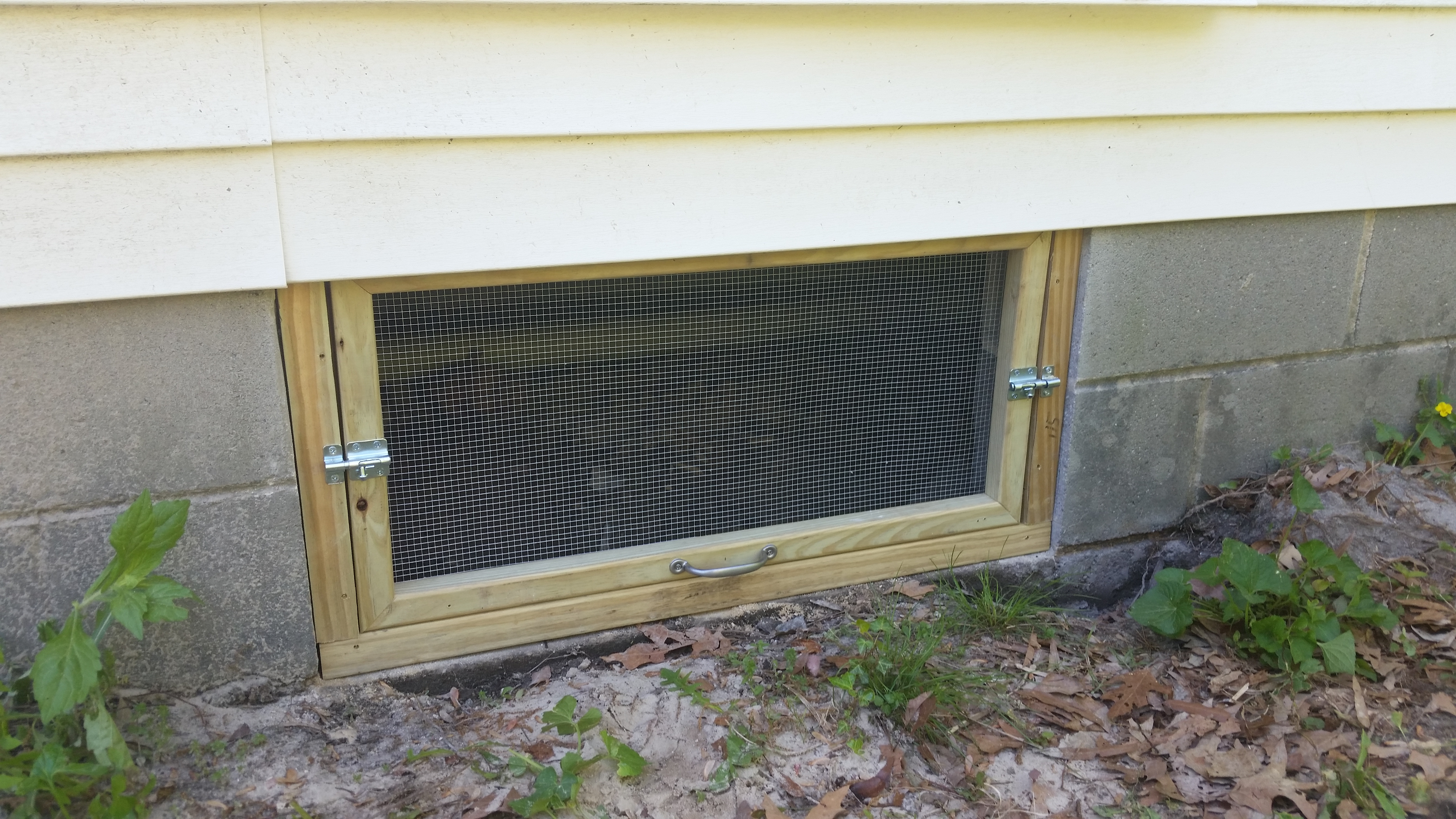 New Crawl Space Door