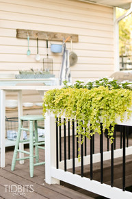 Top your existing railing with flower boxes to add a verdant touch that unites your deck with the surrounding landscape.