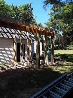 Framing for Carport & Greenhouse