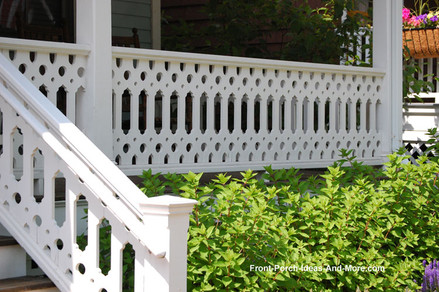 A detailed, Victorian-inspired deck railing instantly adds charm to an outdoor space.