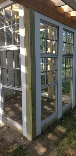 Recycled Windows for Greenhouse