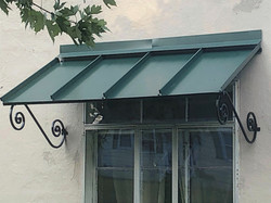 Custom awning installation
