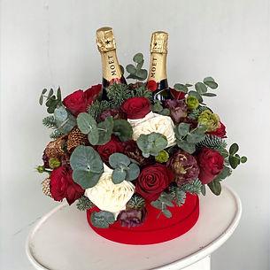 Floral Champagne Christmas Hamper