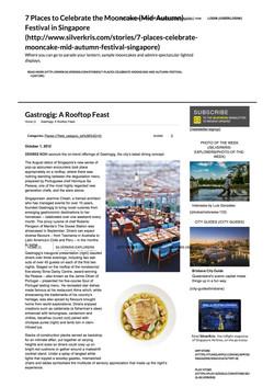 SilverKris - The Travel Magazine of Singapore Airli