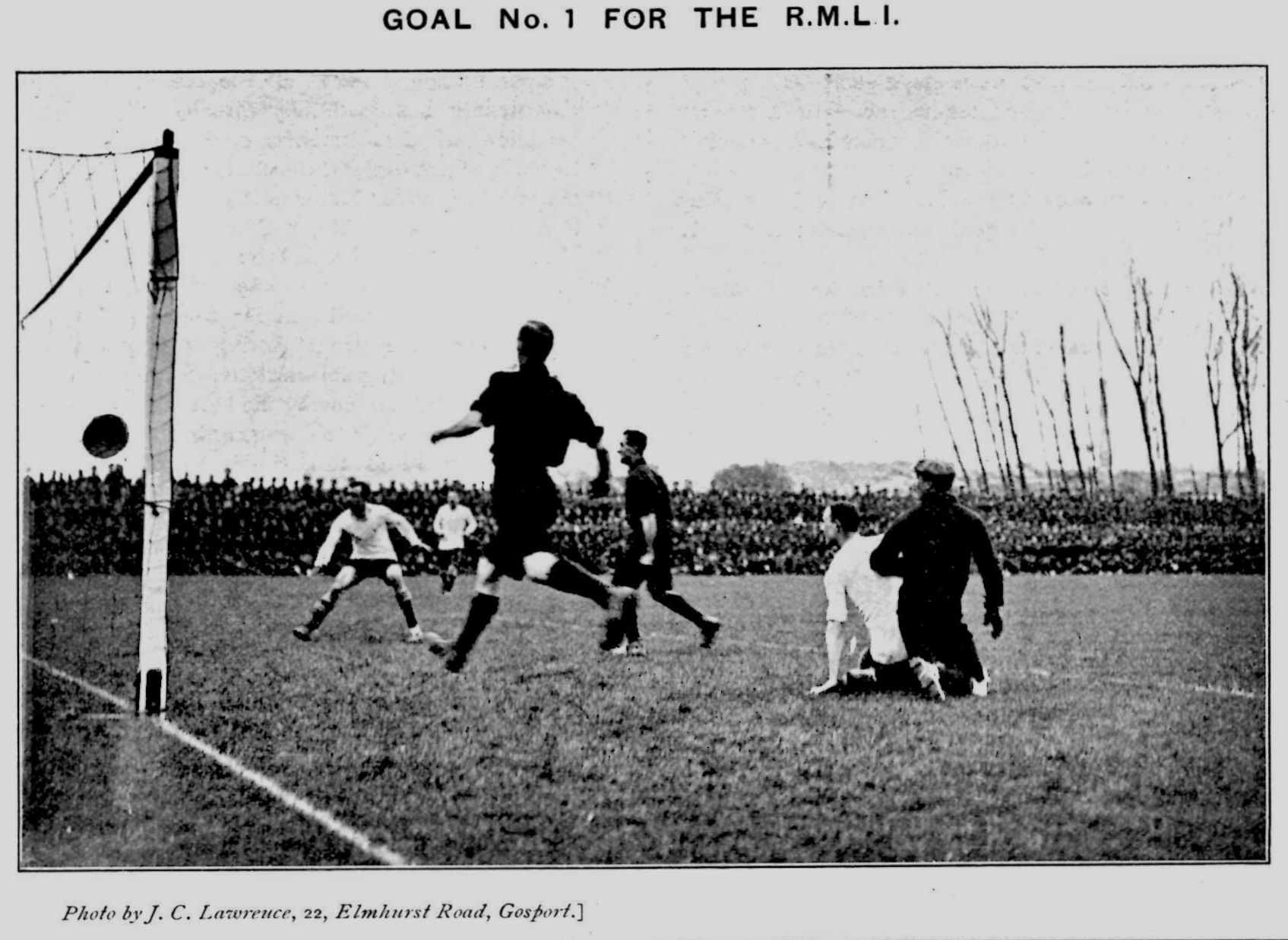 Action from the 1910 Army Cup Final