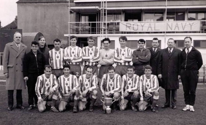 1968 Football Inter Commands winners Royal Marines
