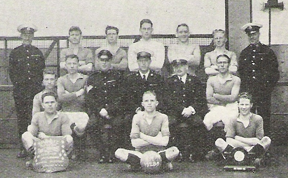 1929 HMS Eagle RM Det Football Team
