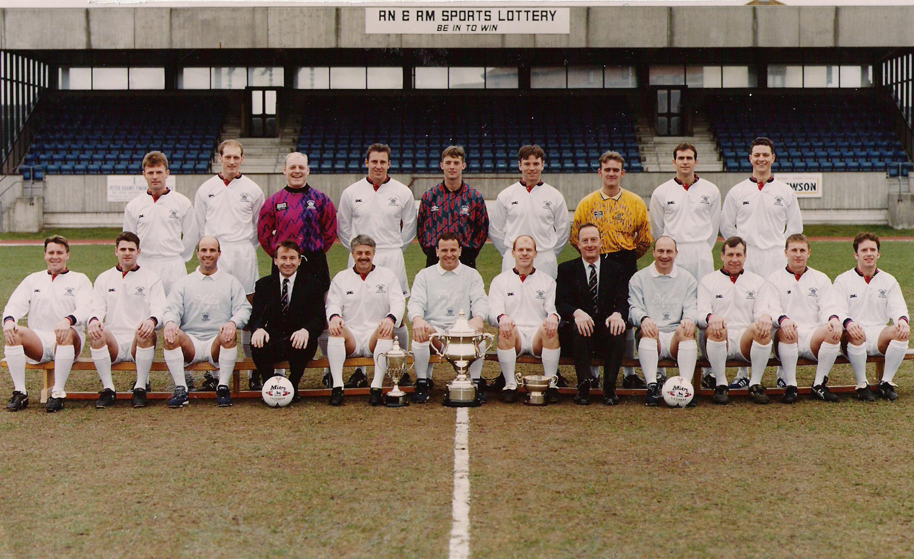 1995-96 Season Royal Navy Football Team.