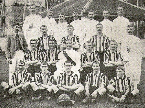 1901 Royal Marines Football Team HMS Highflyer East Indies