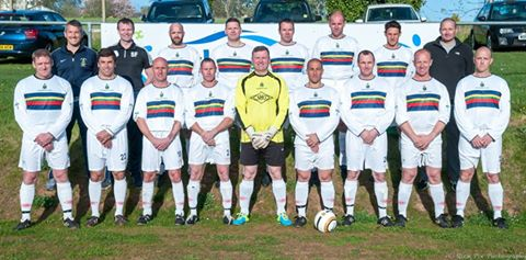 2015 May Royal Marines Vets 4 (Quinn 2, Bochenski, MacFarlane) Lloyds of London 0.