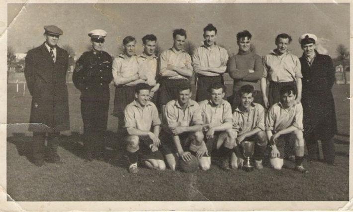 Ted Postin Royal Marines Football