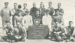 1923 RM Football team of HMS Hawkins