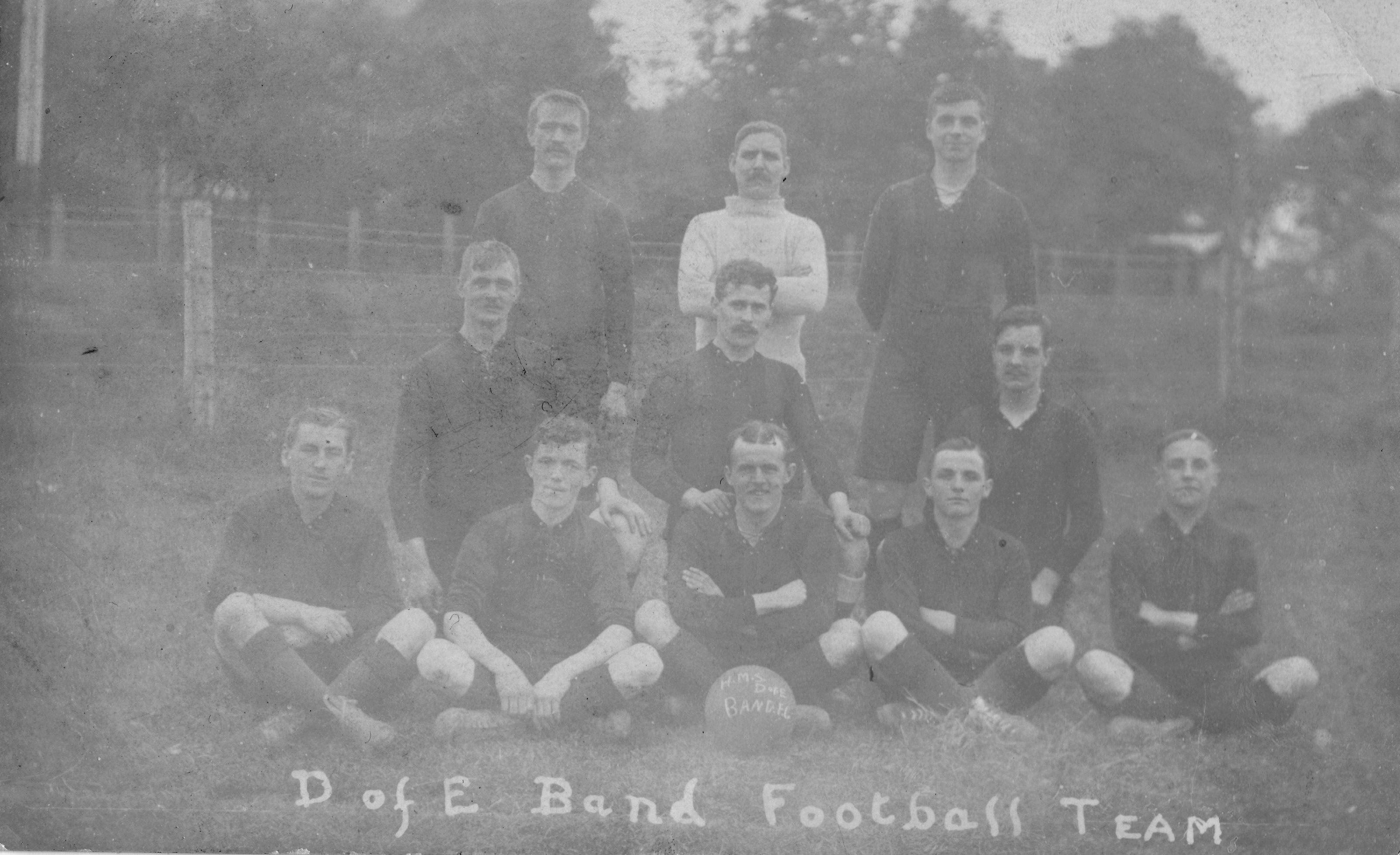 1910-12 H.M.S Duke of Edinburgh Band football team