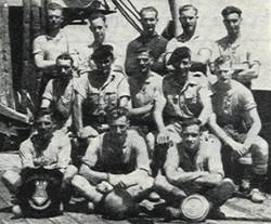 1945 HMS Arethusa Royal Marines Football Team Inter Part Cup Winners