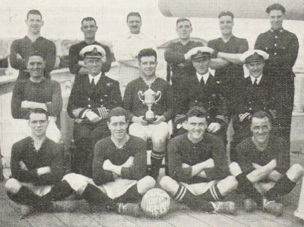 1928-29 HMS Cairo - Cruiser cup winners.
