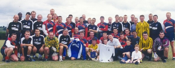 2000 Royal Marines Football Team with Everton FC