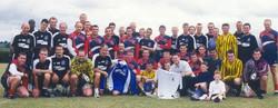 2000 Royal Marines Football Team with Everton FC