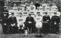 1934-35 Season RM Plymouth with the Devon Mid-week charity Cup and Tunney Cup