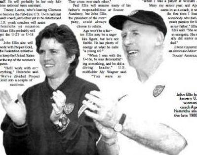 John Ellis & April Heinrichs USA womens football team